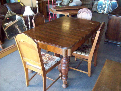 DEAL OF THE DAY 8/6/17: Antique dining table 4 chairs 19489, was $275,  today only $150! - DEAL OF THE DAY 8/6/17: Antique Dining Table 4 Chairs 19489, Was