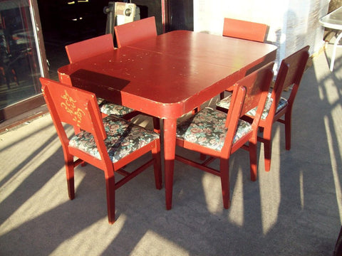 DEAL OF THE DAY Dining Table Leaves Chairs Was - Dining table with 3 leaves