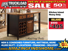 NEW kitchen island 50% off