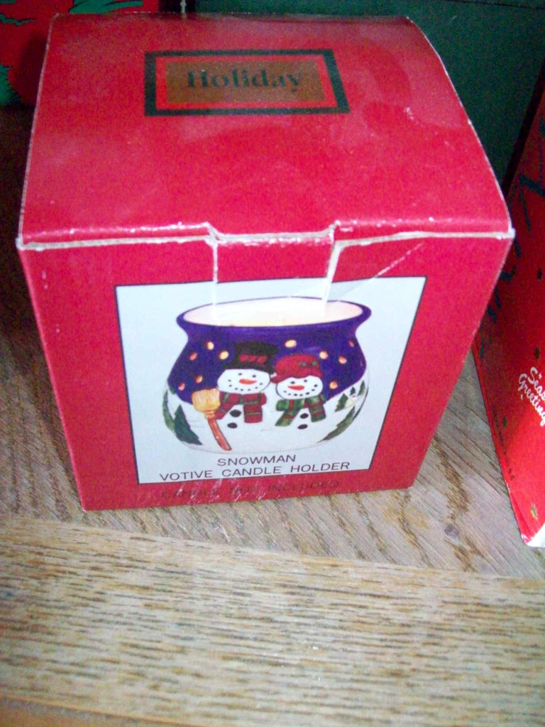 Snowman candle 13217