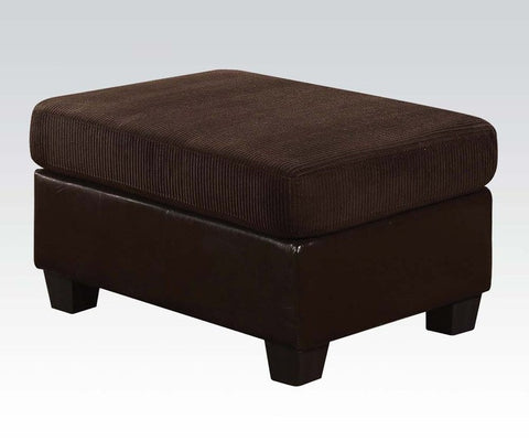 Connell chocolate ottoman by Acme AC-55977