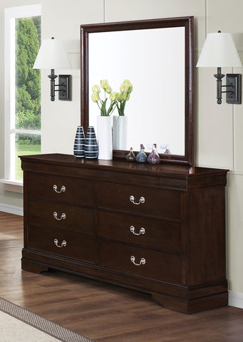 Louis Philippe cappuccino mirror CO-202414