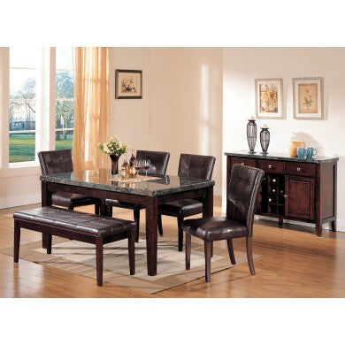 Danville dining table, bench 4 chairs AC-07058-TC4B