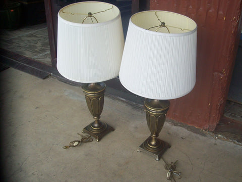Brass lamps w/ shade 16875