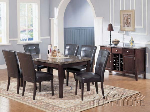 Danville dining table black marble Acme AC-07058
