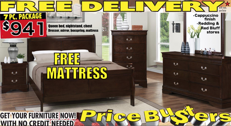 7pc Louis Philippe Cappuccino Queen Bedroom Set CO 202411Q BNCDMBM