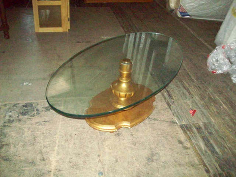 Art Deco glass top coffee table 18666