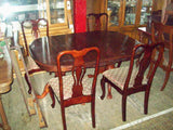 Dining table 2 leaves no chairs 18689