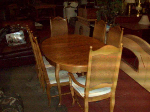 Basic Witz dining table 6 chairs 2 leaves 18806 <strike>$650</strike>