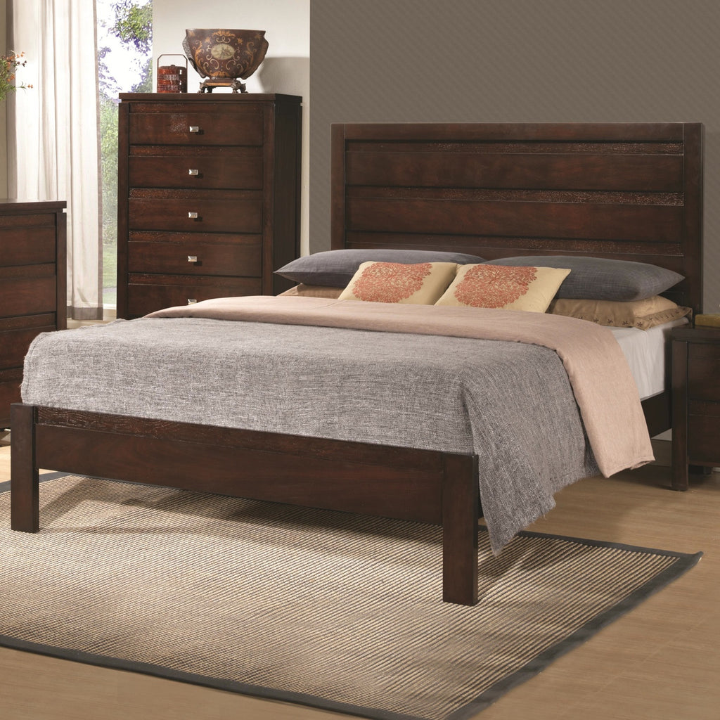 Cameron 4pc queen bedroom set rich brown CO-203491Q-BDMN