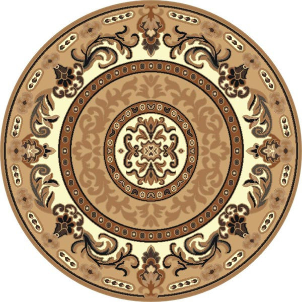 Persian Weavers Kingdom rug 7x7 round berber/beige PW-D-1231381