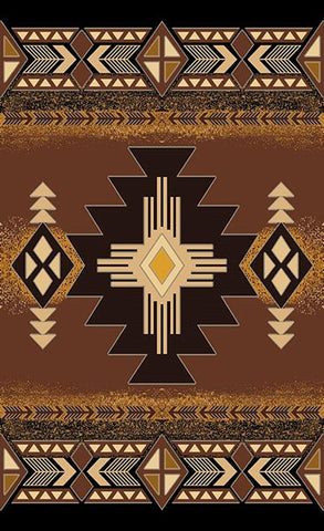 Persian Weavers Concord southwestern rug 5x7 chocolate PW-C-3181433