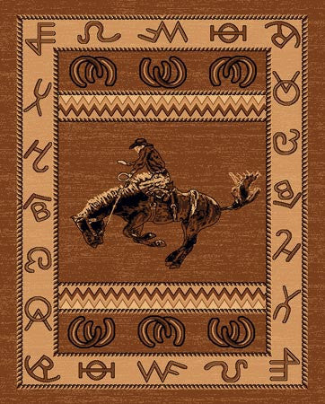 Persian Weavers Lodge rug 5x7 western cowboy PW-LODGE-3701833