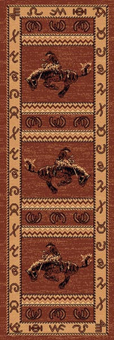 Persian Weavers Lodge rug 2x7 runner western cowboy PW-LODGE-3701823