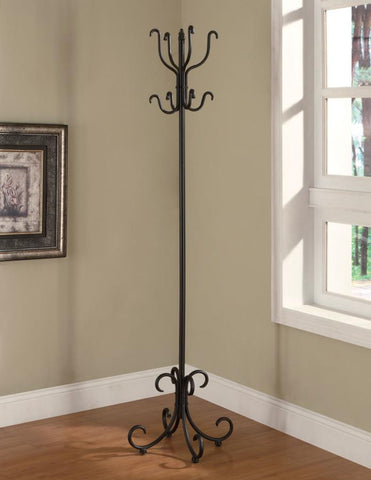 Black Metal Coat Accent Rack with Curved Feet CO-900863