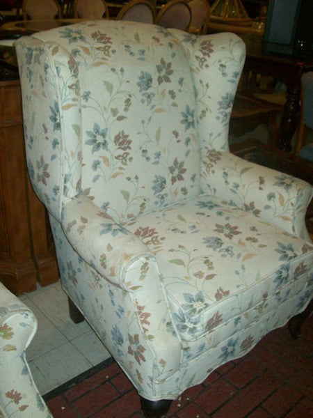 Chair floral wingback RB7032