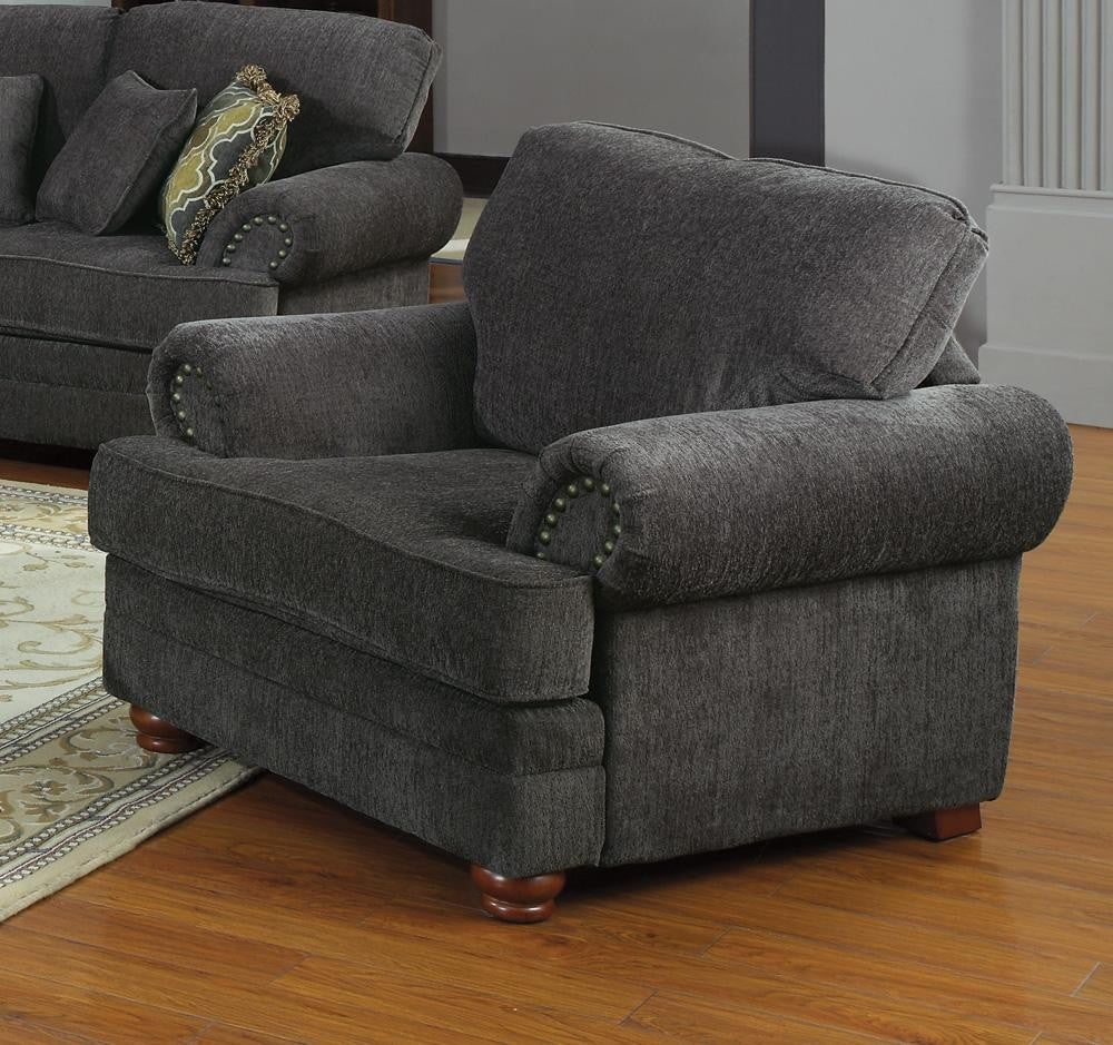 Colton chair smokey grey CO-504403