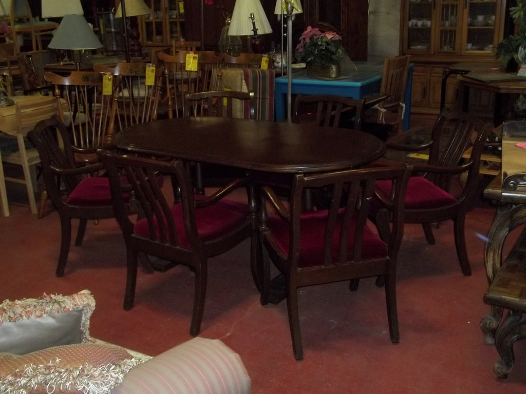 Teak dining table 6 chairs 19668