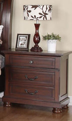 CLEARANCE 50% OFF Hannah Traditional Brown Cherry Night Stand NEW CO-200832