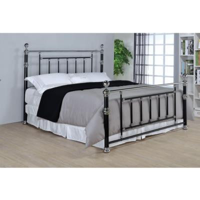 CLEARANCE 50% OFF SPECIAL ORDER Iman Eastern King Bed in Black/Chrome NEW CO-300410KE