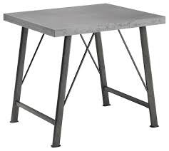 CLEARANCE 50% OFF SPECIAL ORDER Rustic Galvanized and Gunmetal End Table NEW CO-703757