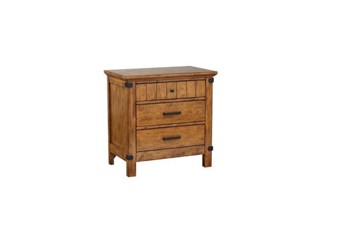 Brenner nightstand with 3 dovetail drawers rustic honey CO-205262