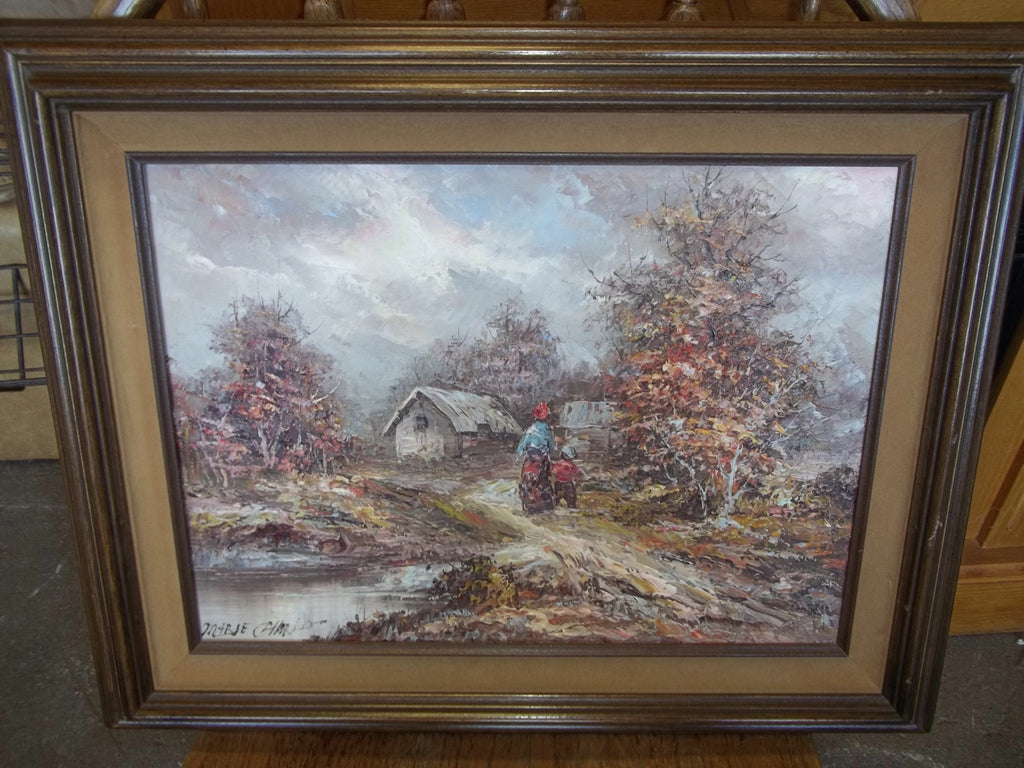 Certified original oil painting 19969