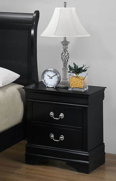 Louis Philippe nightstand black CO-212412