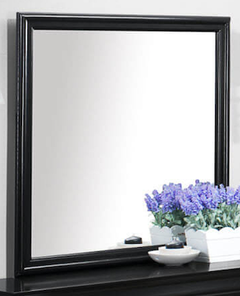 Louis Philippe mirror black CO-212414