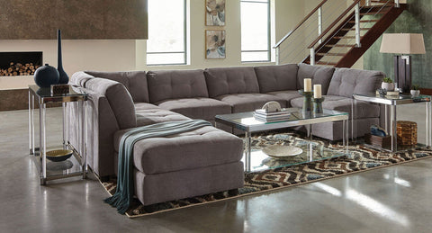 Claude modular sectional corner chair dove grey CO-551005