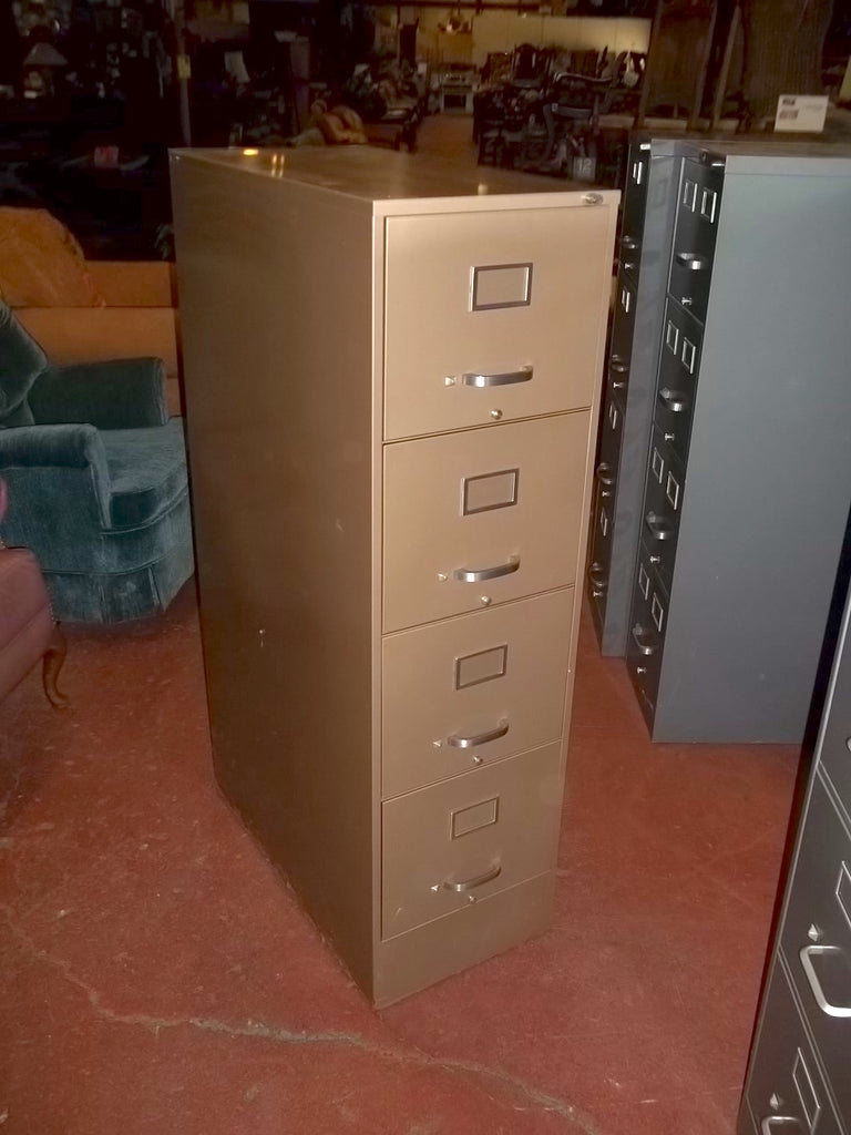 4 drawer metal file cabinet, locking no key 20593