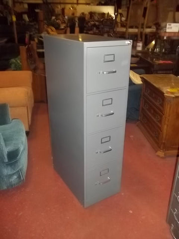 4 drawer metal file cabinet, locking no key 20602