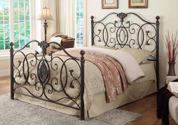 CLEARANCE 50% OFF Gianna metal headboard/footboard Cal king NEW CO-300392KW
