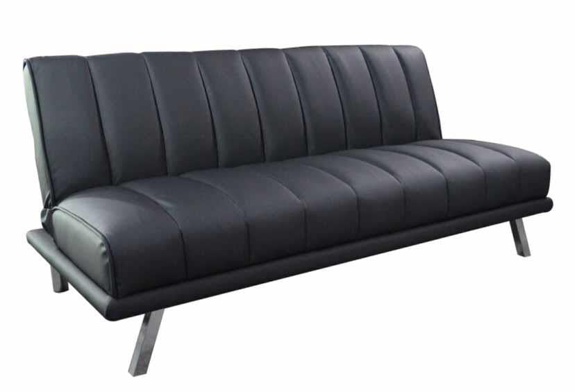 CLEARANCE 50% OFF Black leatherette sofa bed NEW CO-300701
