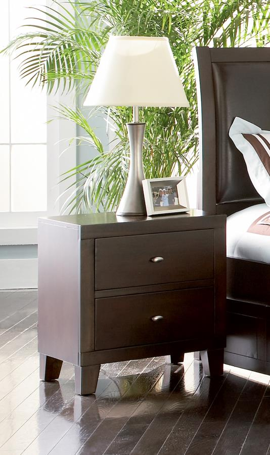 CLEARANCE 50% OFF Lorretta nightstand cappuccino NEW CO-201512