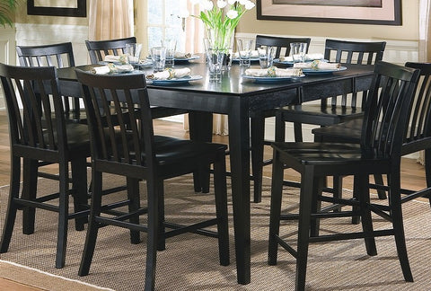CLEARANCE 50% OFF Pines counter height table 8 chairs black 9pc set CO-101038BLK-S9