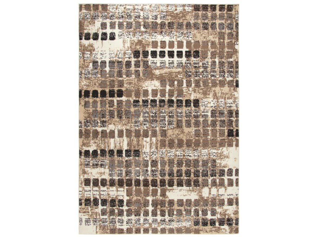 CLEARANCE 50% OFF Area rug contemporary style neutral browns 8x10 NEW by Coaster CO-970229L