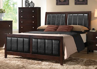 Carlton bedroom set 4pc queen bed, nightstand, dresser, mirror Coaster NEW CO-202091Q-S4