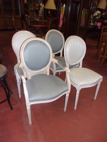 4 pc shabby chic dining chair set 20750