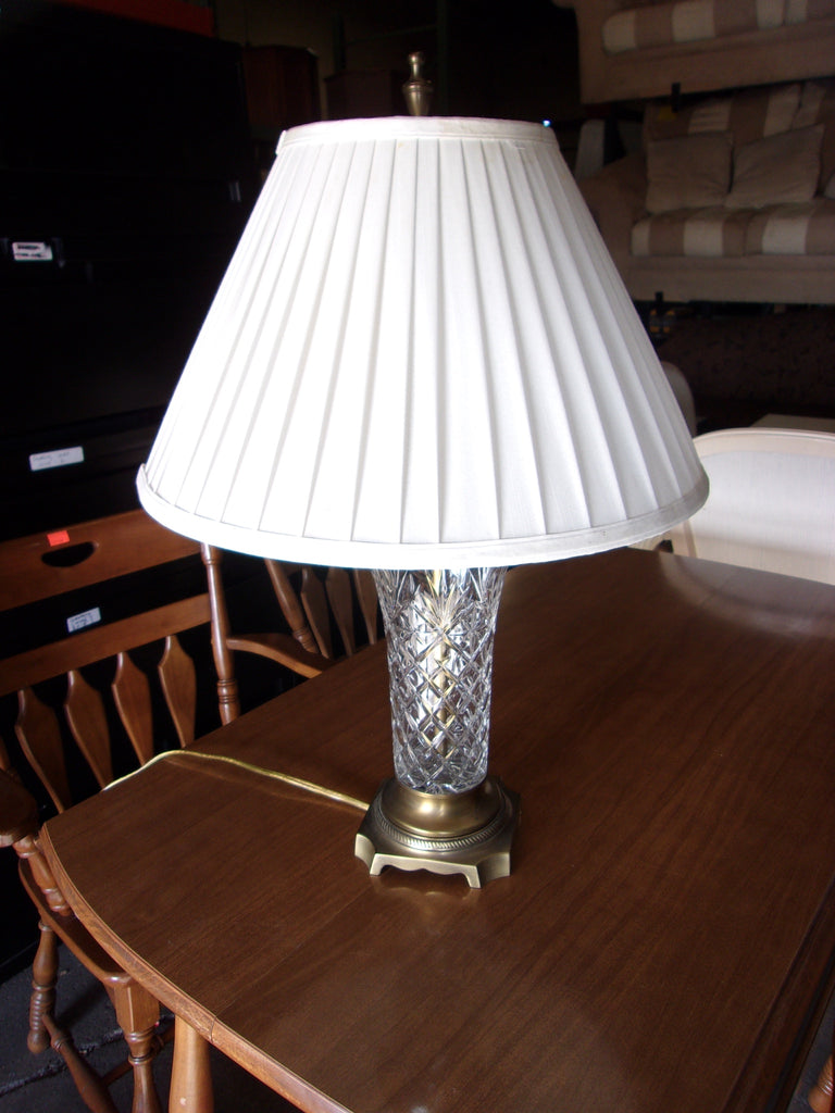 Crystal lamp w shade 20775