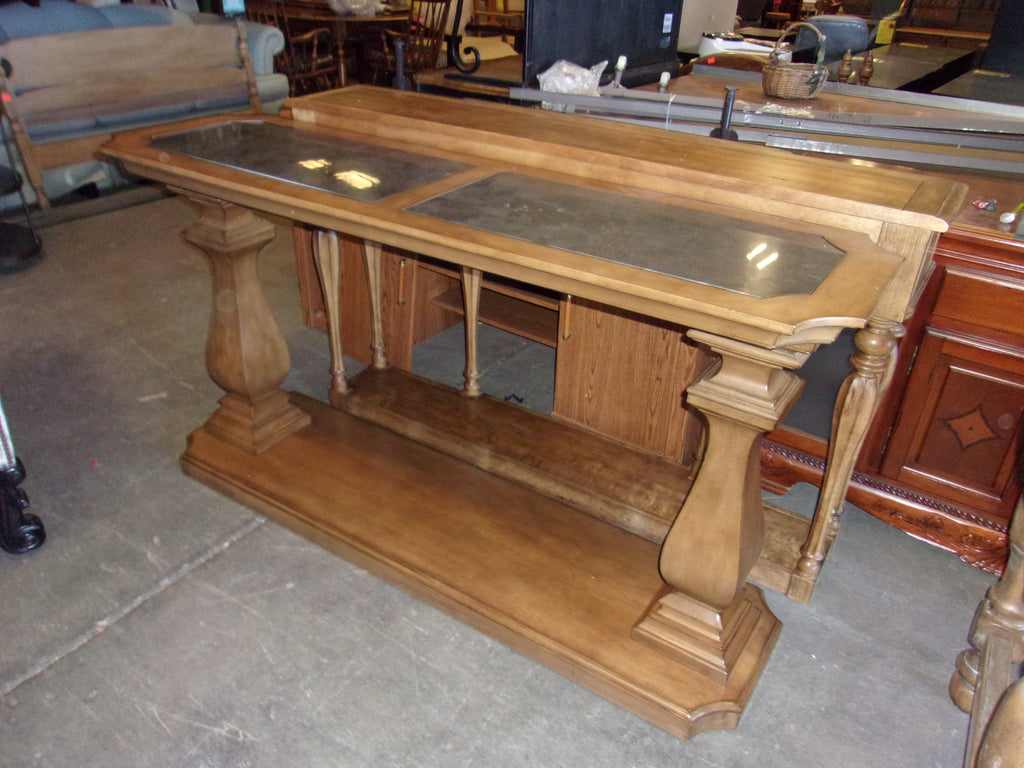 Entryway table w inlaid marble top 20806