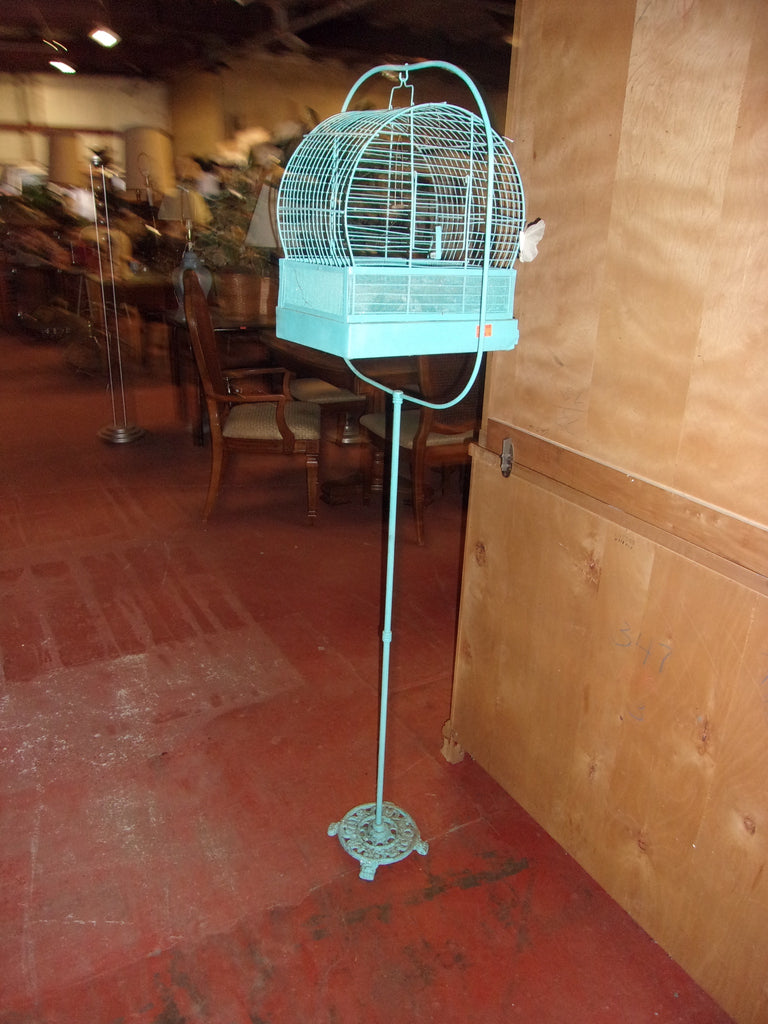 Bird cage w metal stand 20891