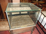 Antique curio display case w drawer  20902