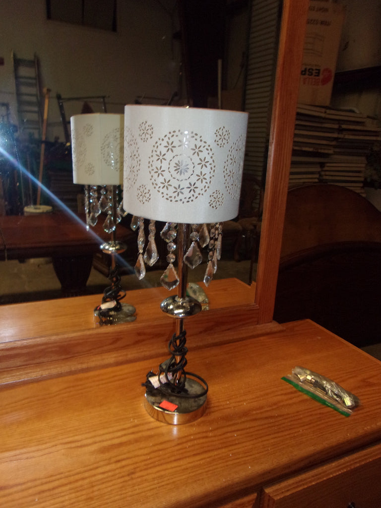 23 inch chrome lamp w shade 20913