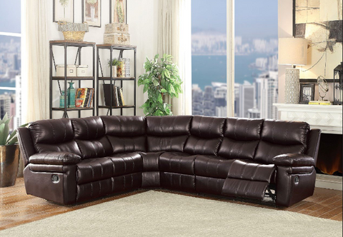 Lavina leather air reclining sectional sofa AC-53955