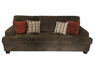 Griffin chenille sofa dark brown by Coaster NEW CO-508381