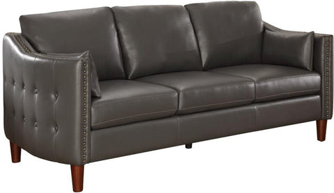 CLEARANCE 50% OFF SPECIAL ORDER Grey Braxten Sofa Couch Leatherette CO-506001 <strike>$722 </strike> $361