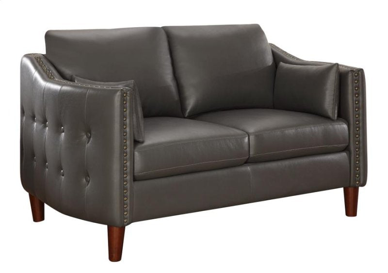 CLEARANCE 50% OFF SPECIAL ORDER Grey Braxten Loveseat Leatherette CO-506002 <strike>$676 </strike> $338