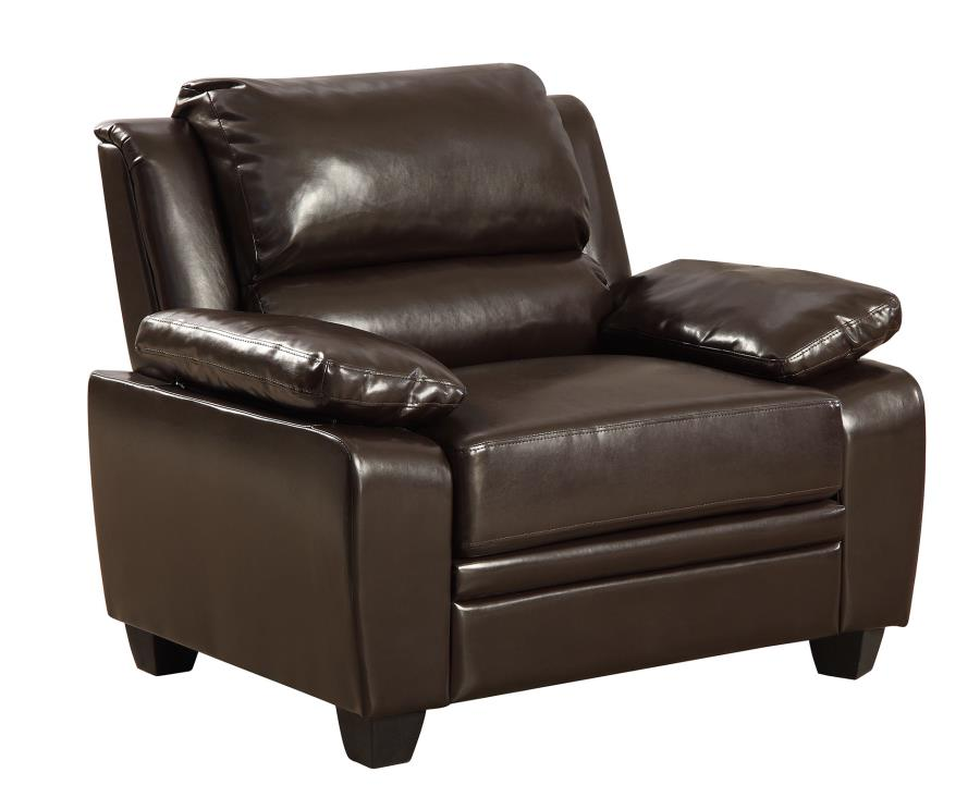 CLEARANCE 50% OFF SPECIAL ORDER Dark Brown Gryffin stationary chair CO-505563 <strike>$286 </strike> $143