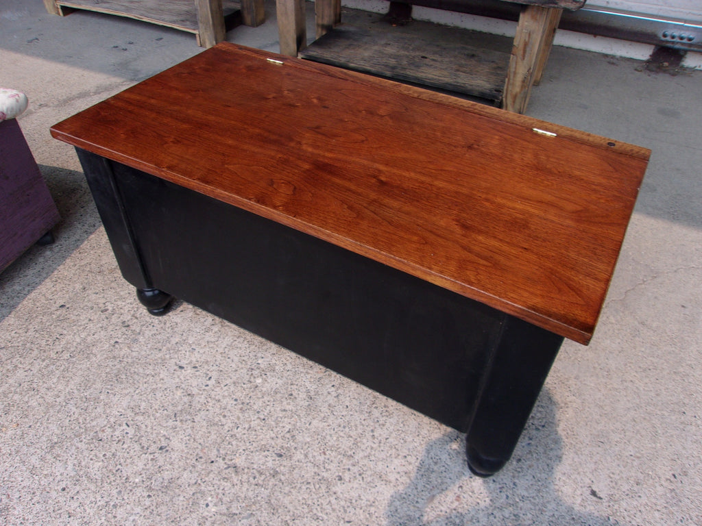 Wood storage chest hand crafted RB13527